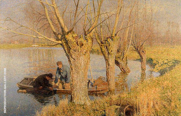 Bringing in The Nets 1893 By Emile Claus