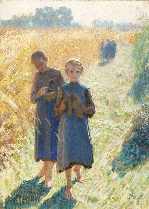 Country Life By Emile Claus