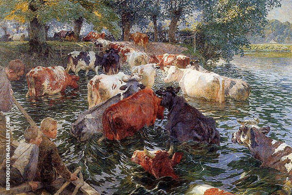 Cows Crossing The Lys River 1899 By Emile Claus
