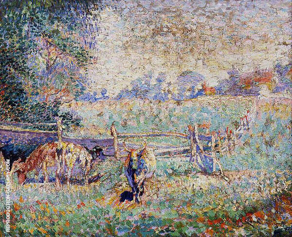 Cows in The Pasture By Emile Claus