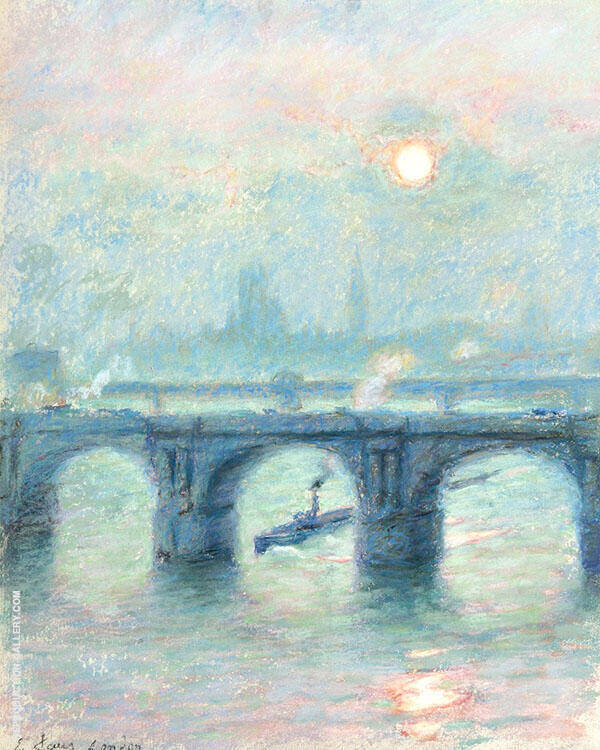 Evening on The Thames London c1915 By Emile Claus