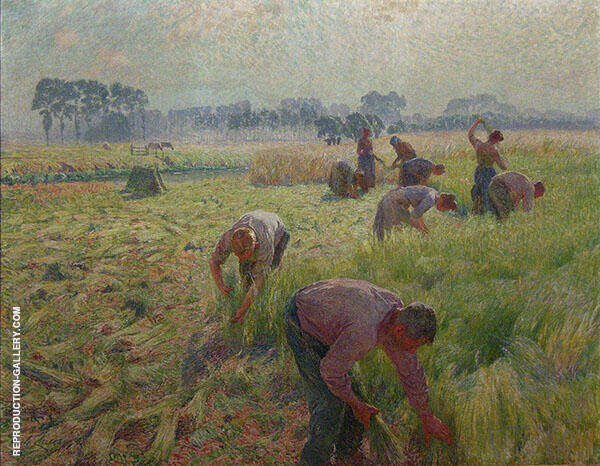Flax Harvesting 1904 By Emile Claus