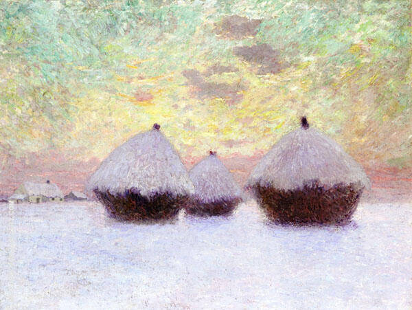 Haystacks in The Snow By Emile Claus