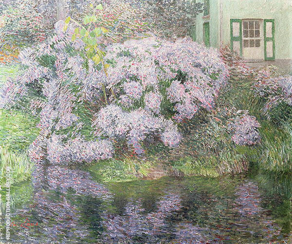 Hydrangeas on The Banks of The River Lys 1898 By Emile Claus