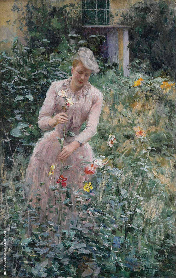 In The Garden By Emile Claus
