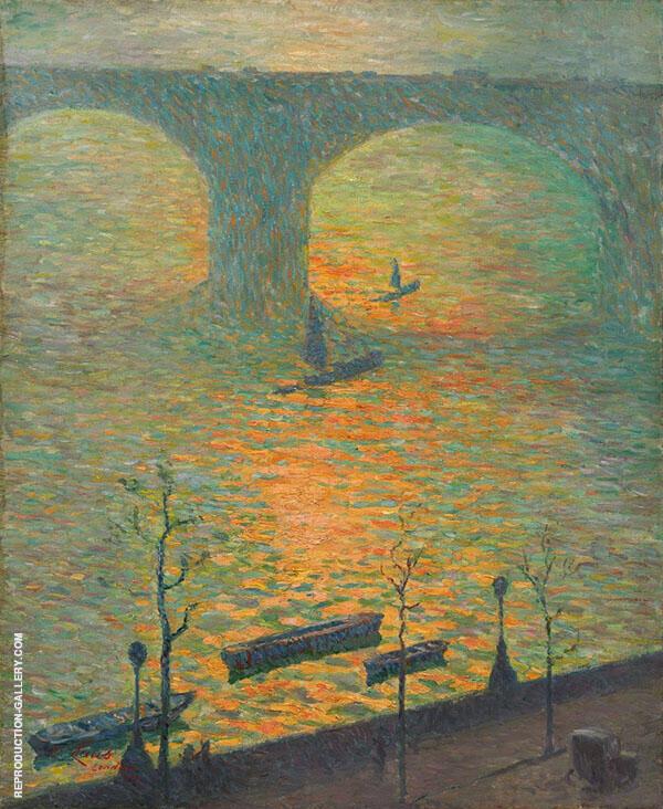 London Waterloo Bridge 1918 By Emile Claus