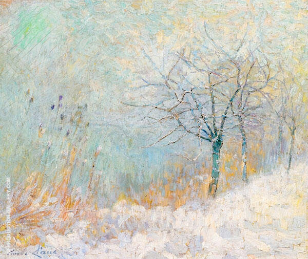 Morning Snow By Emile Claus