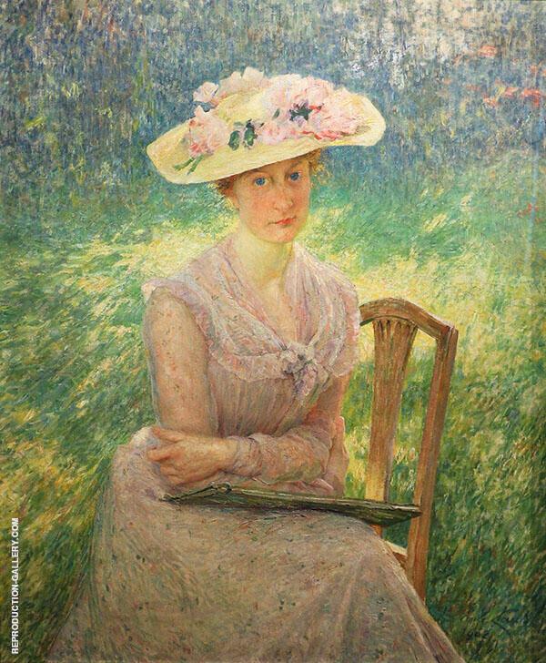 Portrait Jenny Montigny 1902 Painting By Emile Claus