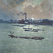 Reflections on The Thames By Emile Claus