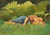 Rest after Harvest By Emile Claus