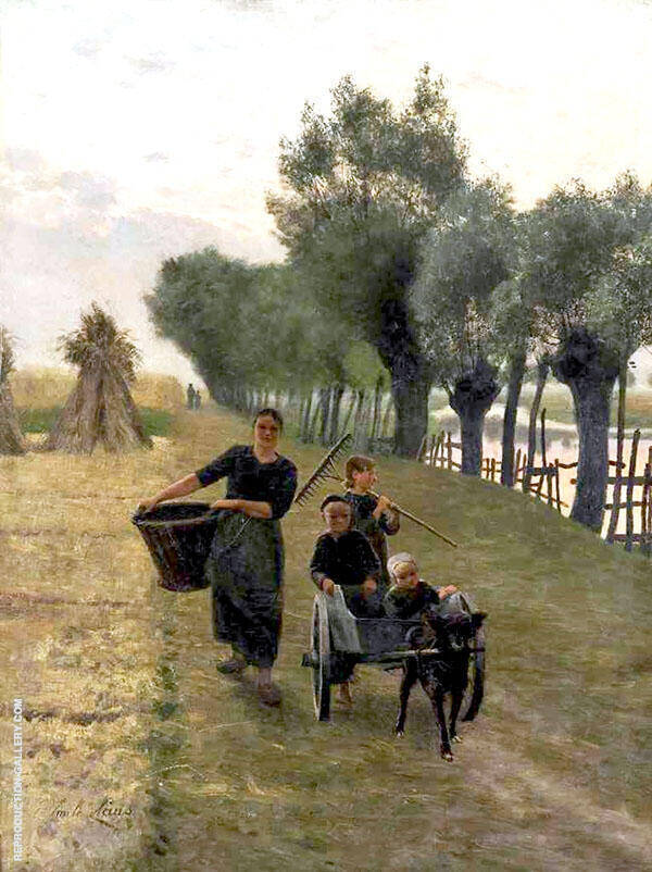 Return from The Fields Painting By Emile Claus - Reproduction Gallery