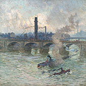 Steamboats on The Thames 1916 By Emile Claus