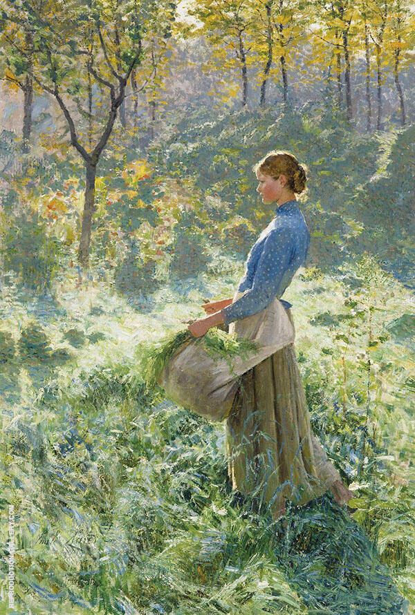 Summer Morning 1891 Painting By Emile Claus - Reproduction Gallery