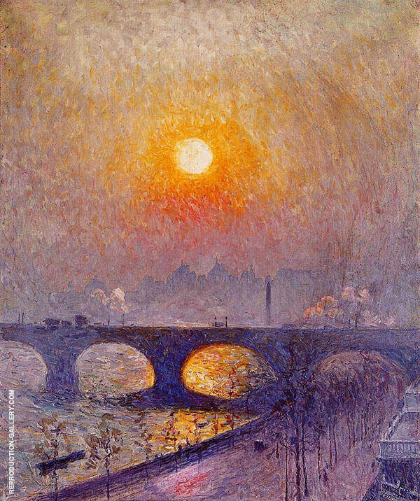 Sunset over Waterloo Bridge 1916 Painting By Emile Claus
