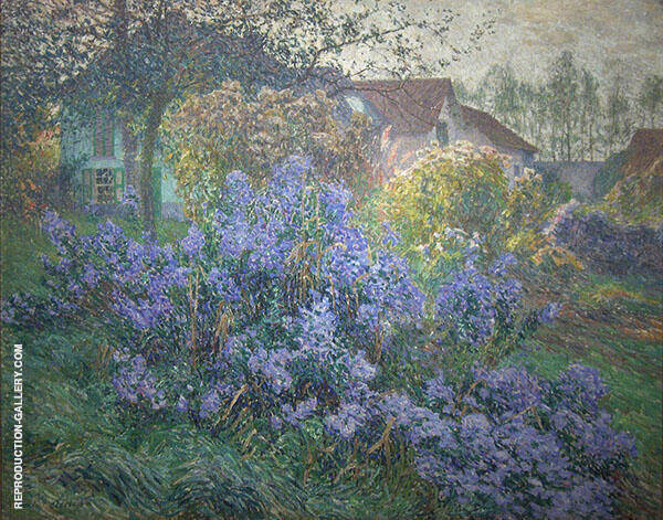 The Asters 1906 Painting By Emile Claus - Reproduction Gallery