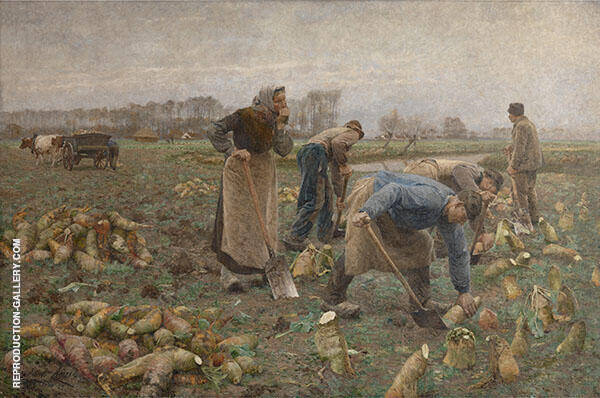 The Beet Harvest 1890 Painting By Emile Claus - Reproduction Gallery