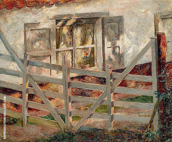 The Gate 1899 Painting By Emile Claus - Reproduction Gallery