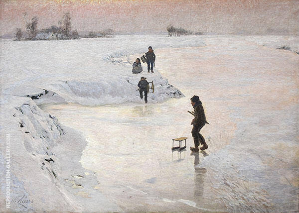 The Ice Birds Painting By Emile Claus - Reproduction Gallery