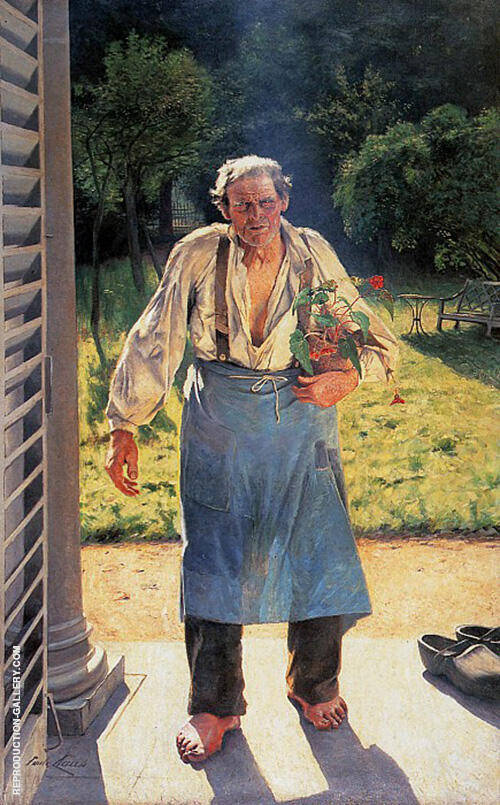 The Old Gardener Painting By Emile Claus - Reproduction Gallery