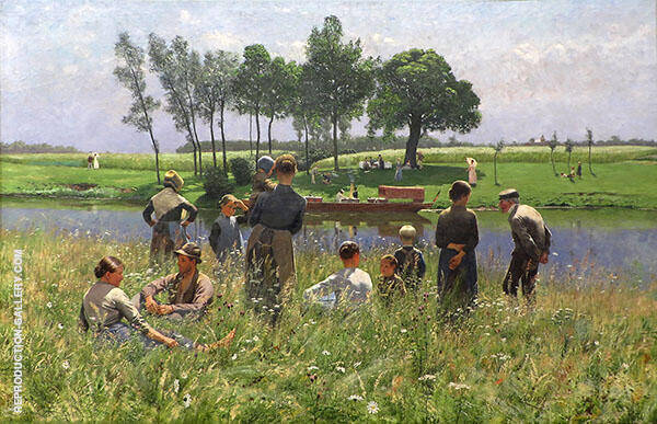 The Picnic 1887 Painting By Emile Claus - Reproduction Gallery
