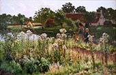 The River Lys at Astene 1885 By Emile Claus