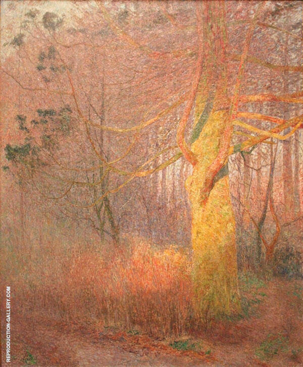 Tree in The Sun Painting By Emile Claus - Reproduction Gallery