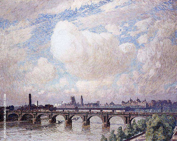 Waterloo Bridge in The Sun 1916 Painting By Emile Claus