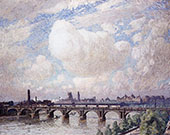 Waterloo Bridge in The Sun 1916 By Emile Claus