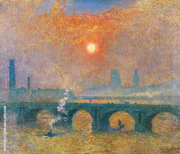 Waterloo Bridge London Painting By Emile Claus - Reproduction Gallery