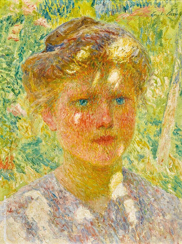 Young Girl with Blond Hair Painting By Emile Claus - Reproduction Gallery