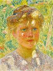 Young Girl with Blond Hair By Emile Claus