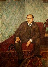 Portrait of Arnold Schonberg c1905 By Richard Gerstl