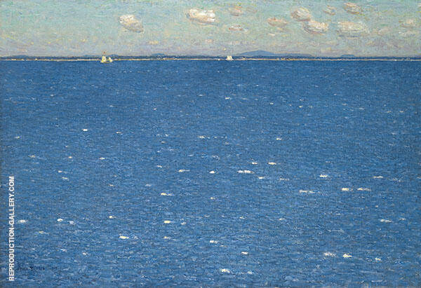 The West Wind, Isle of Shoals 1904 by Childe Hassam | Oil Painting Reproduction Replica On Canvas - Reproduction Gallery
