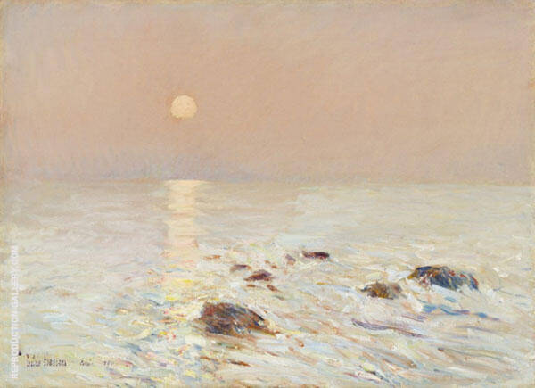 Morning, Isle of Shoals Painting By Childe Hassam - Reproduction Gallery