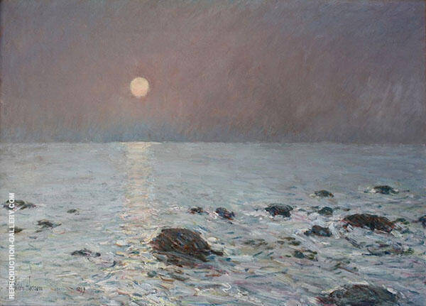 Moon Island, Isle of Shoals 1899 Painting By Childe Hassam