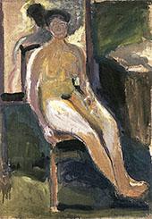Sedted Female Nude 1908 By Richard Gerstl