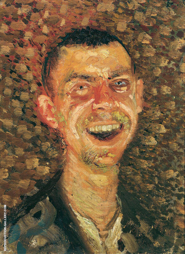 Self Portrait Laughing 1908 By Richard Gerstl