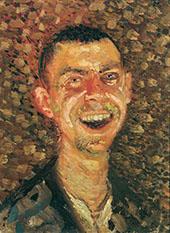 Self Portrait Laughing 1908 By Richard Gerstl