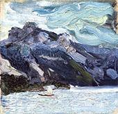 Trunsee with Sleeping Greek Woman By Richard Gerstl