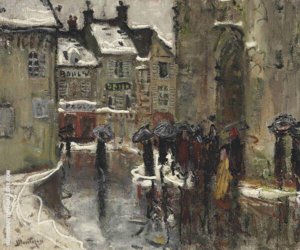 After Mass in Dreux By Pierre Eugene Montezin