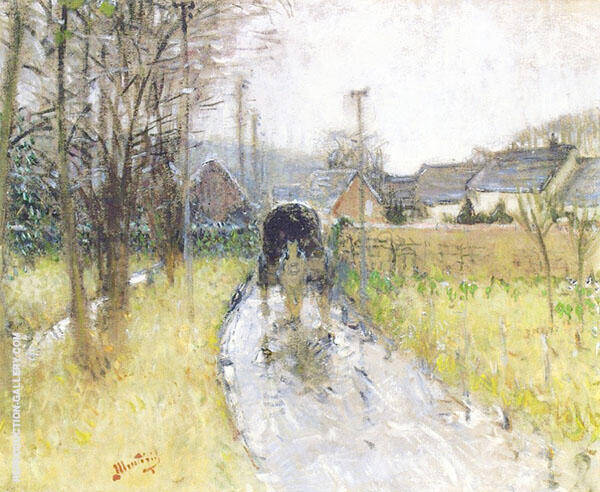 After The Rain in Mouthulet By Pierre Eugene Montezin
