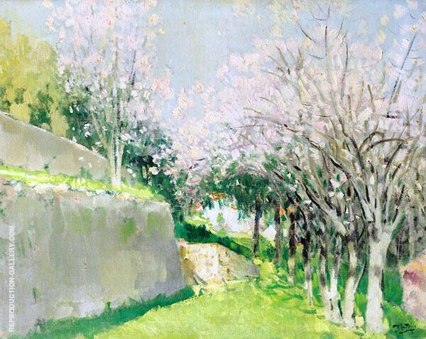 Almond Tree Cap Ferrat 1935 By Pierre Eugene Montezin