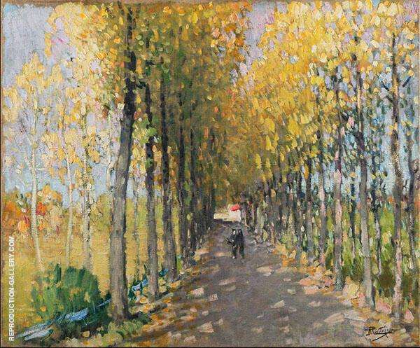 An Autumn Afternoon By Pierre Eugene Montezin