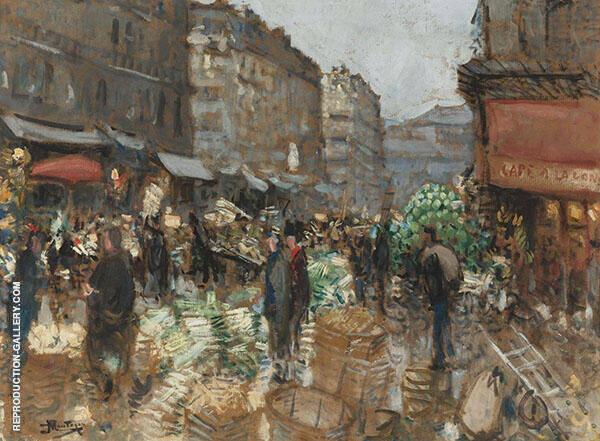 At The Market By Pierre Eugene Montezin