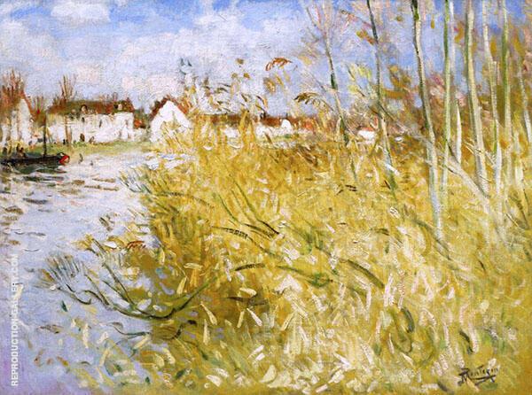 Autum in Miss sur Yonne By Pierre Eugene Montezin