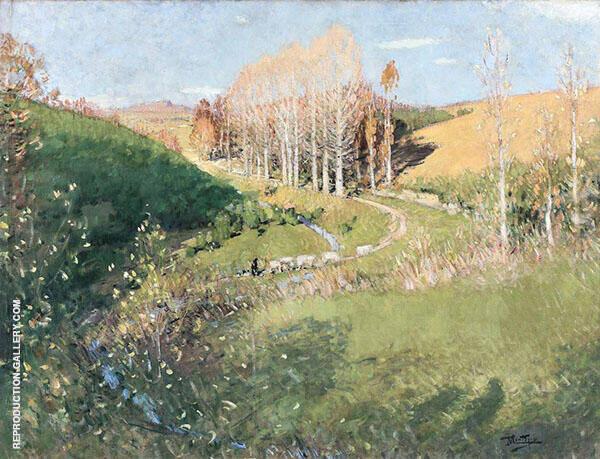 Autumn in Creuse By Pierre Eugene Montezin