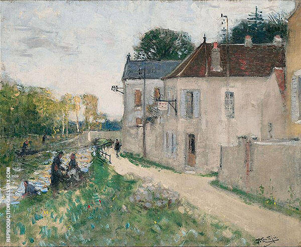 Banks of The Lyonne at Changis By Pierre Eugene Montezin