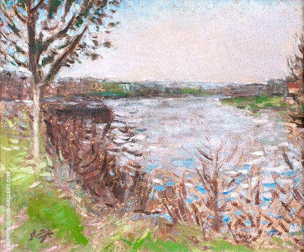 Banks of The River By Pierre Eugene Montezin