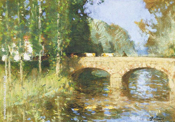 Bridge upon The River By Pierre Eugene Montezin
