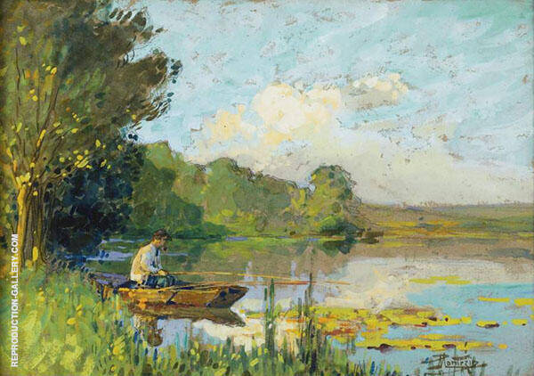 Fishing By Pierre Eugene Montezin